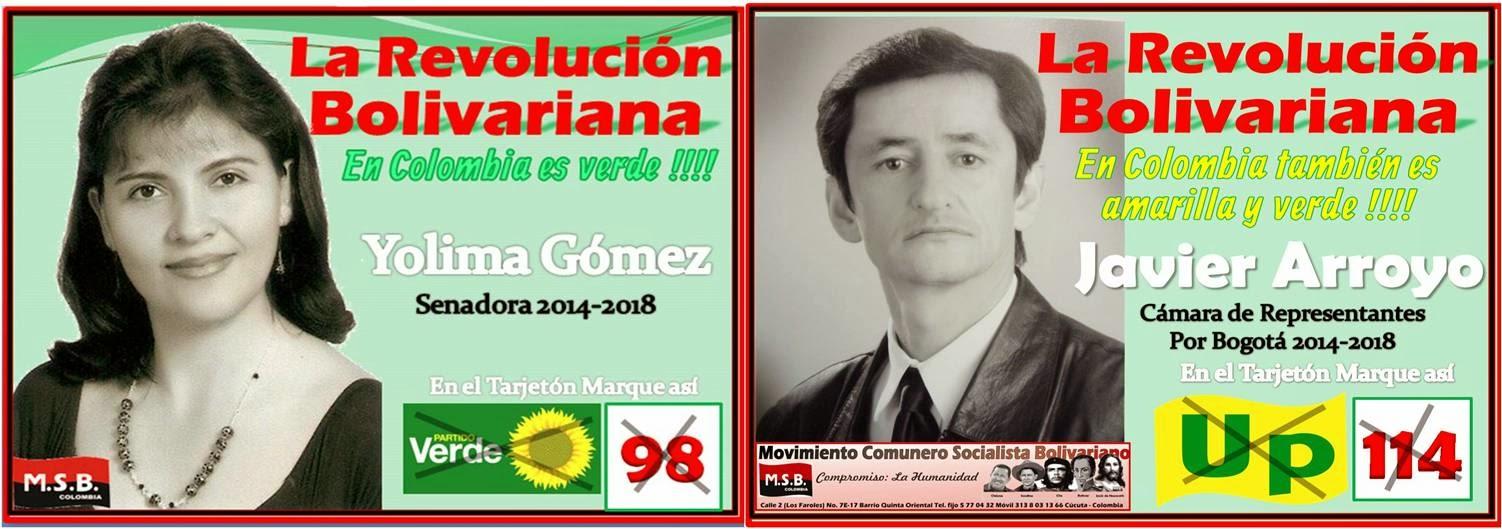 La Revolución Bolivariana en Colombia también es Amarillo y Verde !!!!