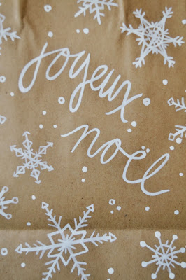 paper bag, gift wrap, handmade, diy, christmas, noel