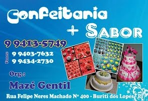 CONFEITARIA + SABOR