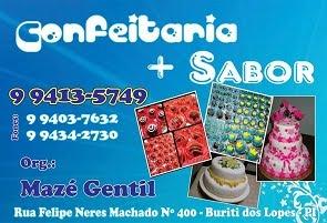 CONFEITARIA + SABOR