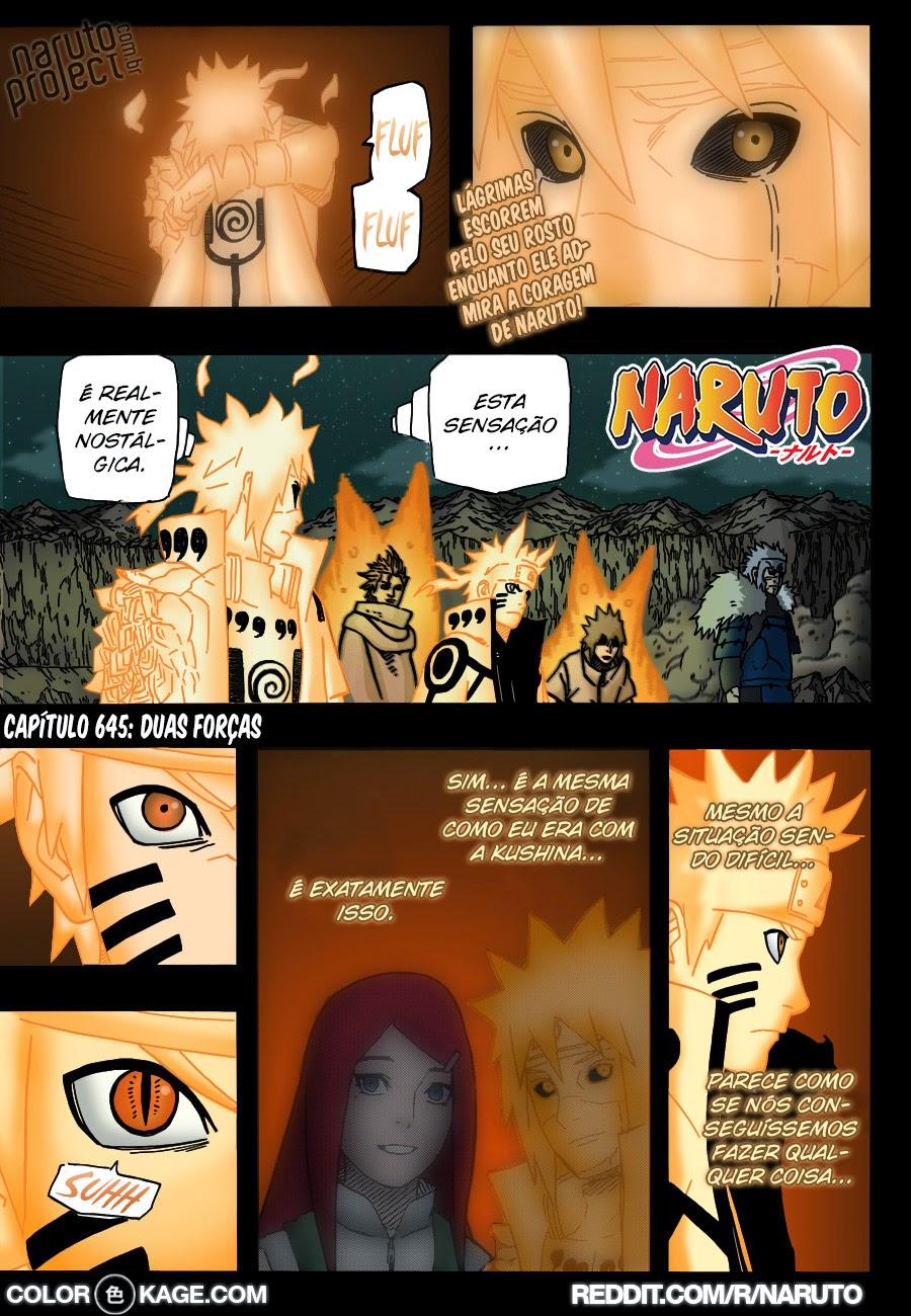 Naruto 645 Mangá Colorido em português leitura online