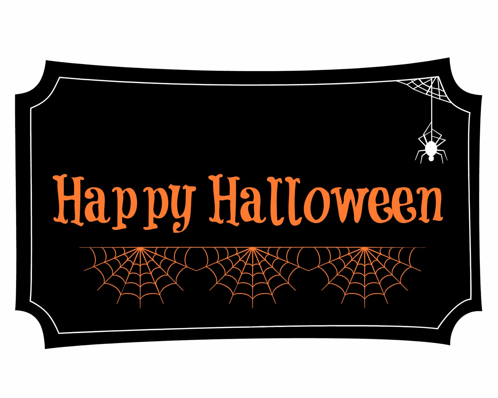 It is an image of Adorable Happy Halloween Printable