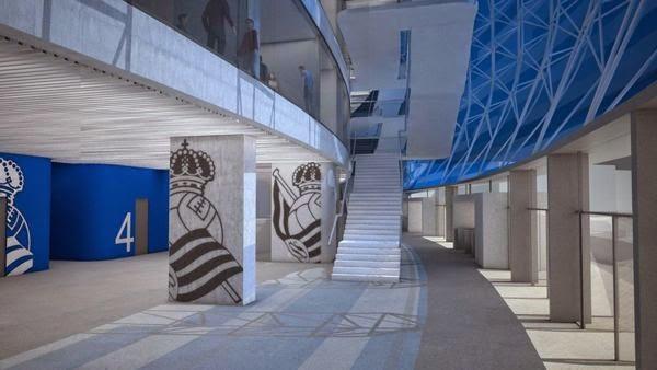 Interiores del proyecto del nuevo anoeta