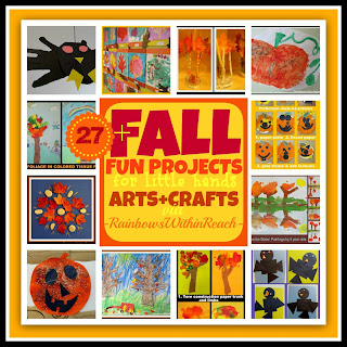 photo of: Fall Arts + Crafts Projects for Children (Fall RoundUP via RainbowsWithinReach) 