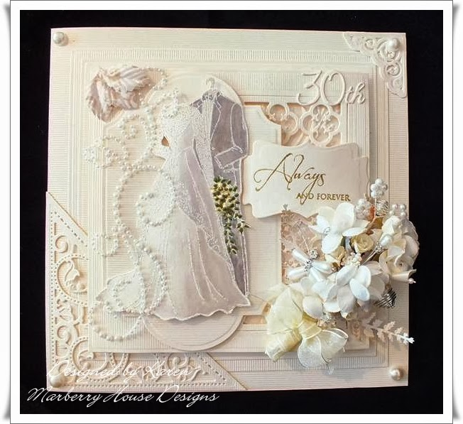 Serendipity Dragonfly: Pearl Anniversary card