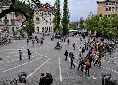 斯洛文尼亞, 盧比安娜, Ljubljana, 派沙倫廣場, Presernov Trg