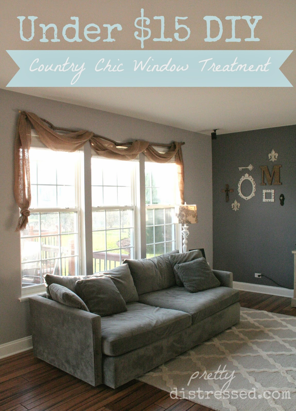 Pin Spired DIY Country Chic Window Treatments