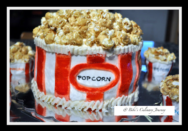 how to make a popcorn bucket cake | just b.CAUSE