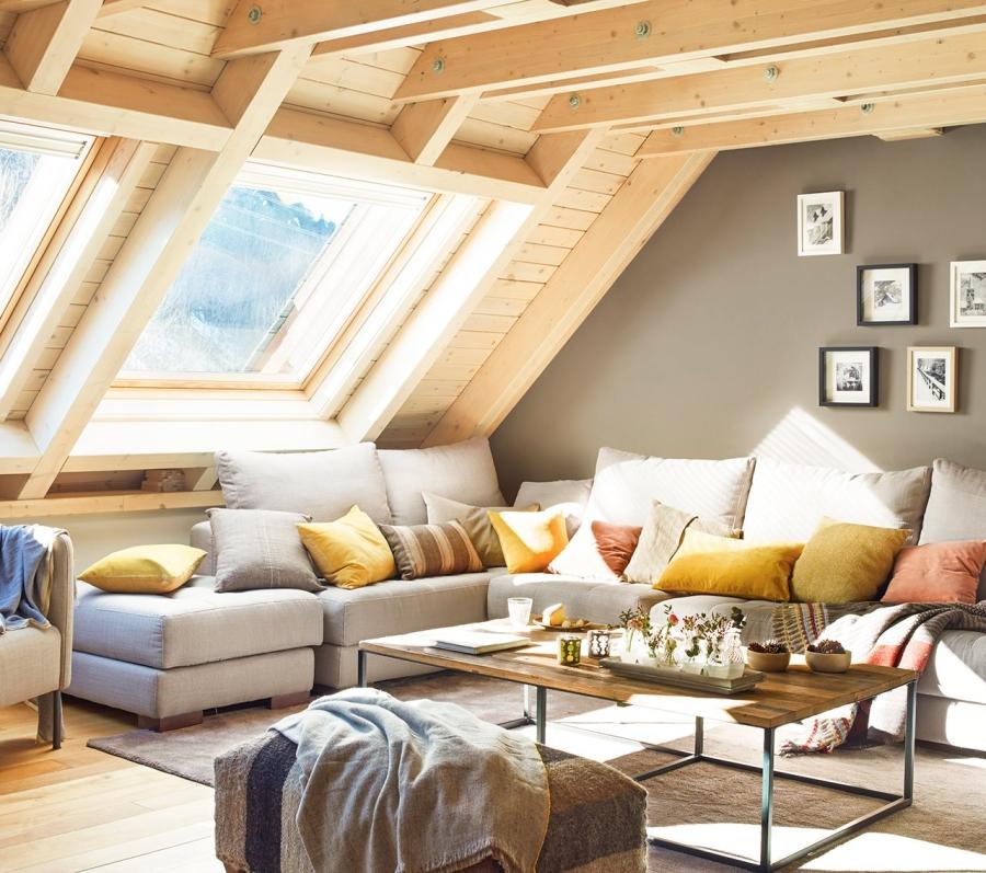wystrój wnętrz, wnętrza, urządzanie mieszkania, dom, home decor, dekoracje, aranżacje, drewno, wood, kominek, fireplace, salon, living room, bedroom, sypialnia, kuchnia, kitchen, domek w górach, górsa chata, skosy, mountain hut