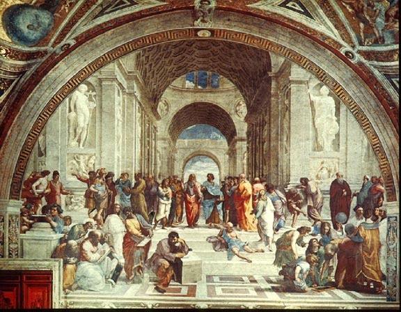 Raphael painting, School of Athens, fresco