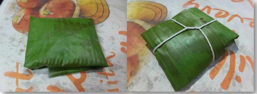 Mathi pollichathu/Sardines in banana leaf wrap