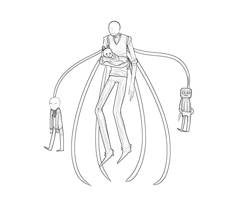 slender man coloring pages Slenderman Slenderman Happy | How Coloring slender man coloring pages