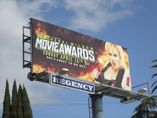 Rebel Wilson MTV Movie Awards billboard April 2013