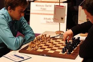 Echecs à Dortmund ronde 5 : Sergey Karjakin (2766) 1-0 Daniel Fridman (2653) - Photo © Georgios Souleidis