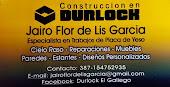 JAIRO CONSTRUCCIONES EN DURLOCK