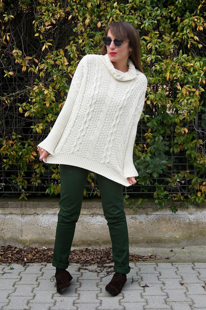 maglione trecce