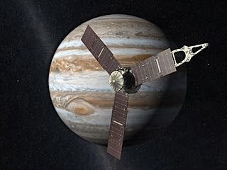 Artist's impression of the NASA JUNO mission at Jupiter