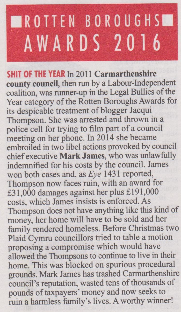 Private Eye - Rotten Boroughs - January 2017