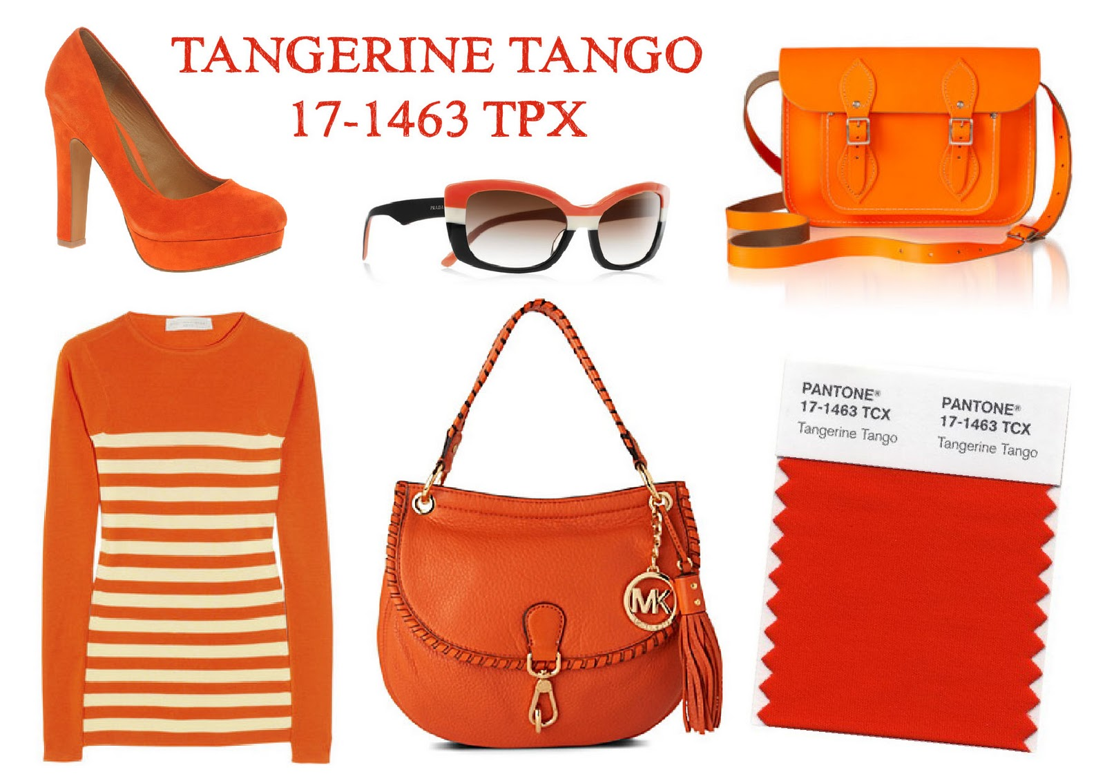 Pencil Stitches: Pantone Colour of the Year: Tangerine Tango 17 ...