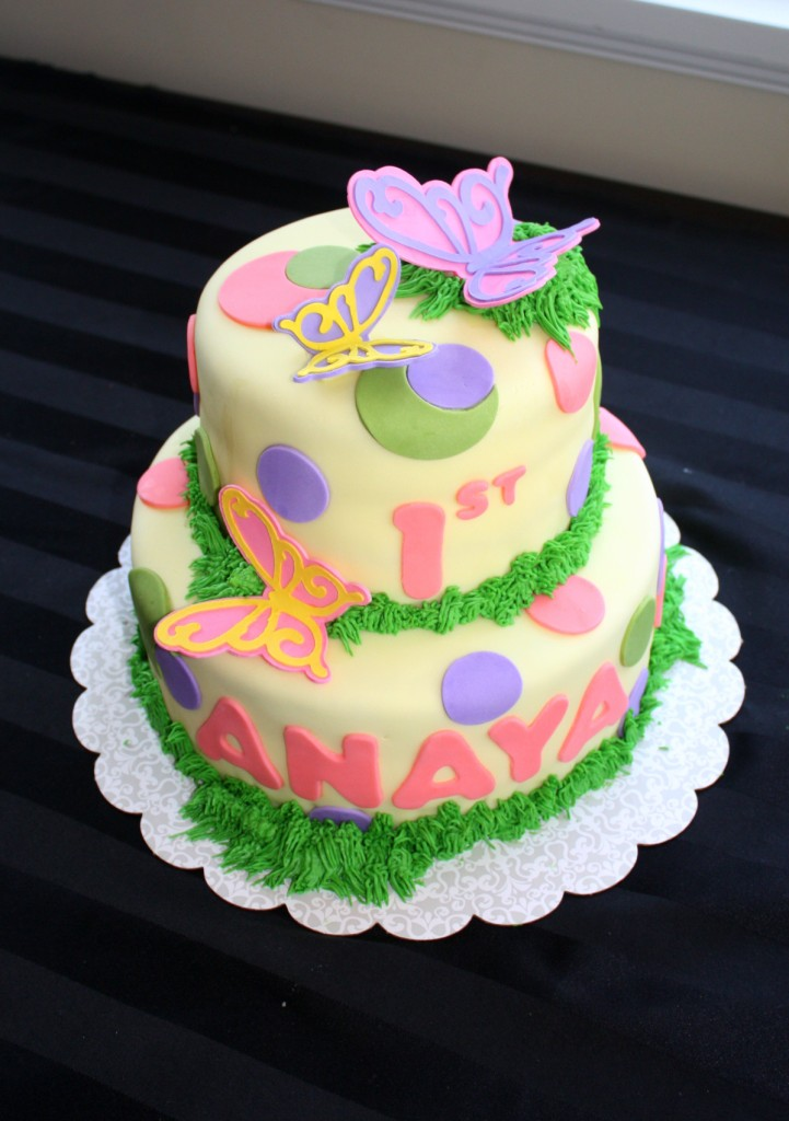 The Createry Shop Spring Butterfly Garden Birthday Cake