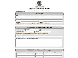 Formulário de denúncia eleitoral do TRE-CE