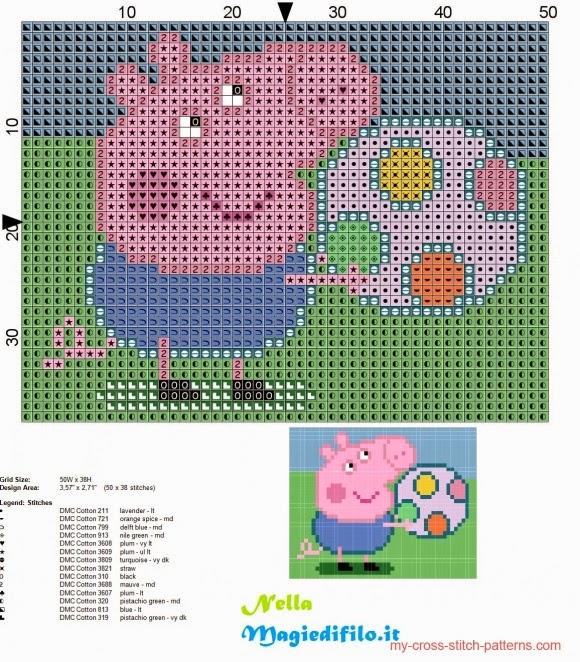 George Pig Knitting Pattern Jumper :  Meus Graficos De Ponto Cruz : Peppa Pig em Ponto Cruz (4? parte-Alfabetos)