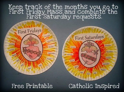 devotion to the sacred and immaculate hearts crafts printables and coloring pages