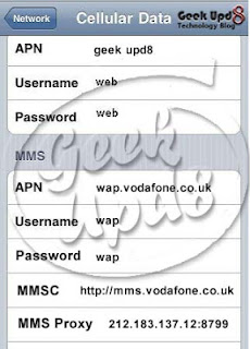 iPhone Access Point Settings