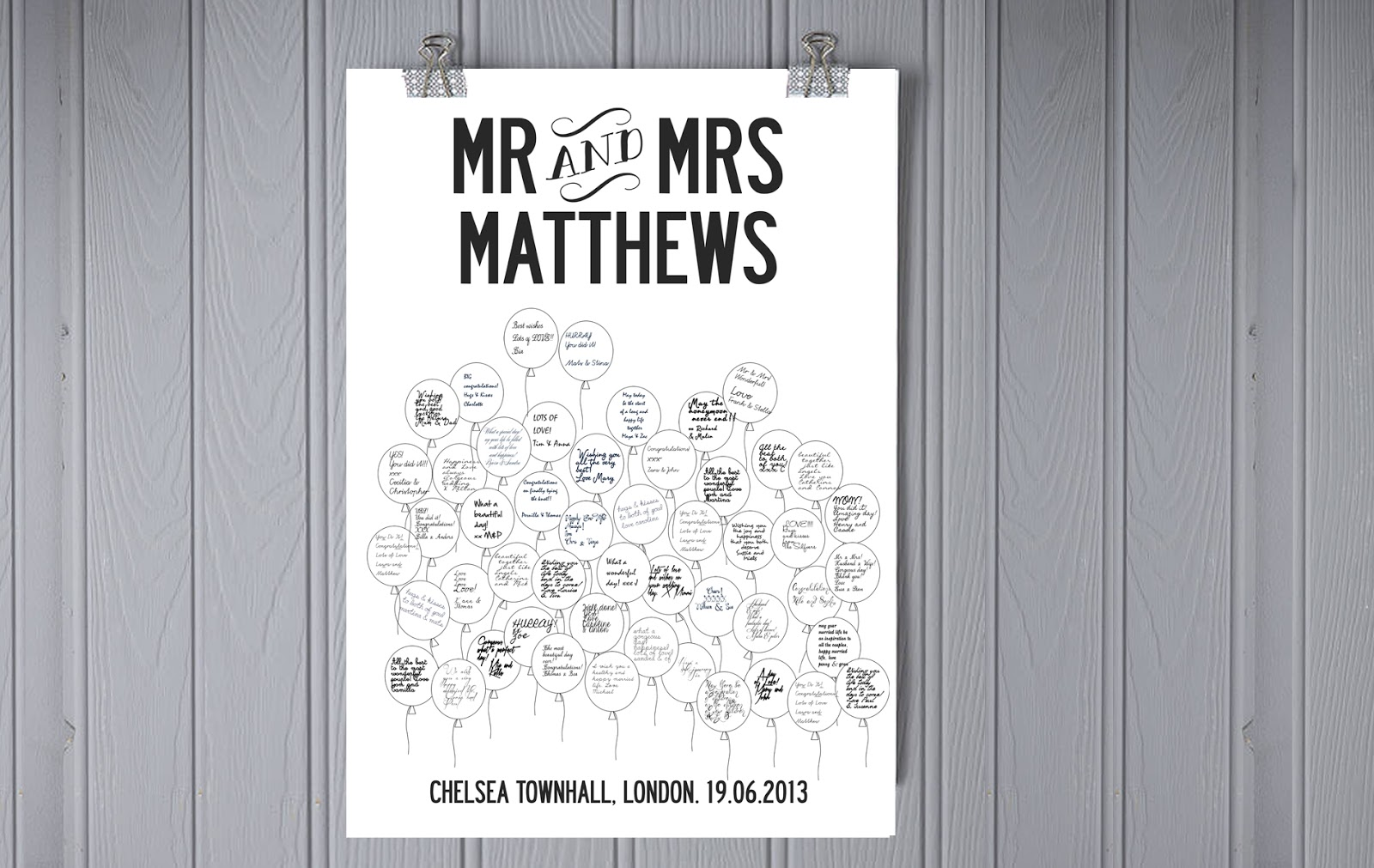 Looking for an alternative to the traditional wedding guest book ...