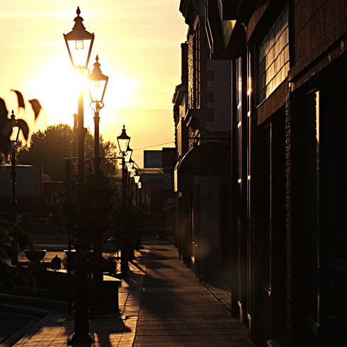 downtown medicine hat alberta sunrise photography
