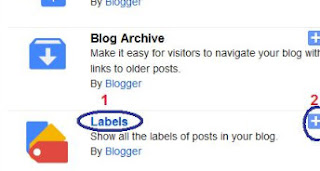 add widget in blogger