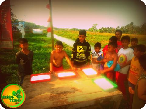 FOTO 1 : Persiapan ambil uang koin di Dusun Gardu ( REGAZ)