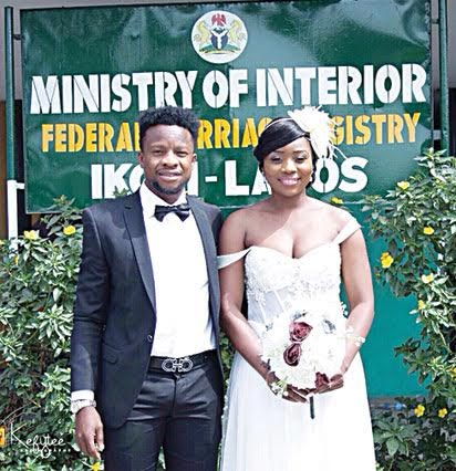 Photos From Super Eagles Midfielder Ogenyi Onazi Court Wedding