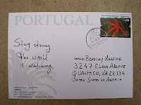 Support for Bradley Manning via postcard from Portugal, August 2010