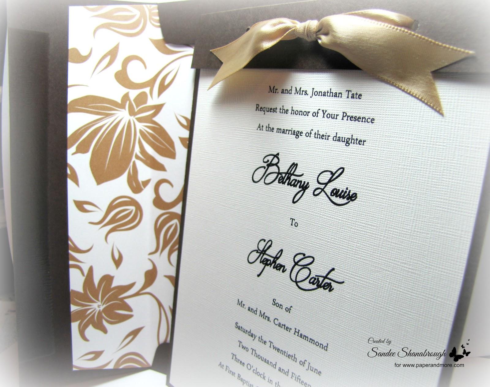 Simply Southern Sandee: An Easy DIY Wedding Invitation