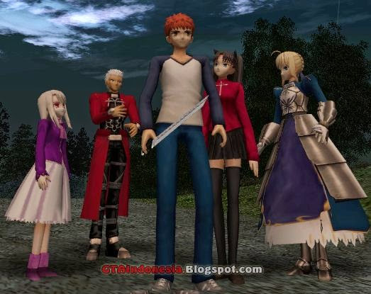 The Models Themselves From FATE Games Like Unlimited Code PSP Btw I Have That Game And Porting Some Character Ilya Several Years Ago