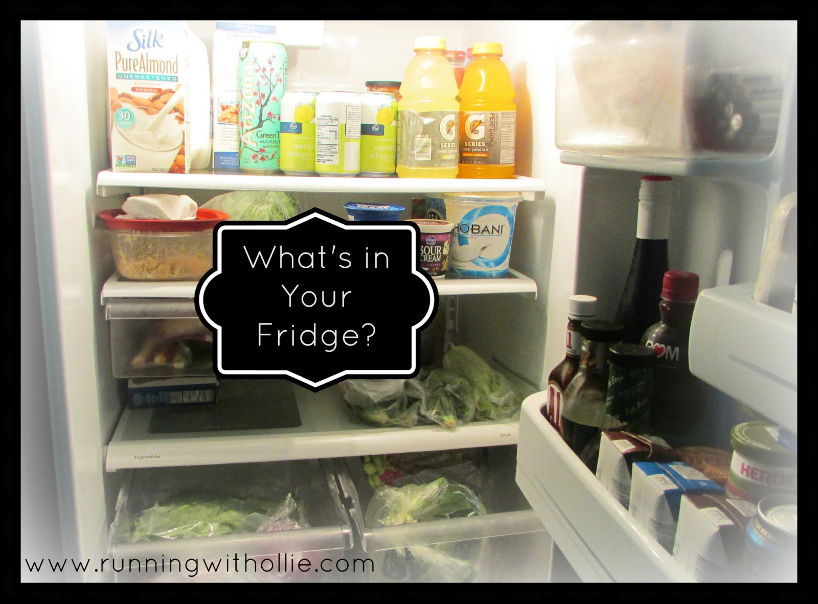 running with ollie what 39 s in your fridge a link party. Black Bedroom Furniture Sets. Home Design Ideas