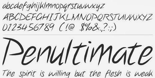Best Handwriting Font