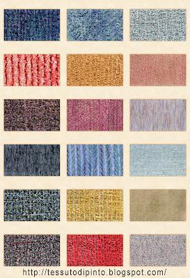 Trame di tessuto disegnate per sfondi e texture