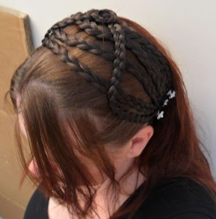 Medieval Hair Braids Hair Piece