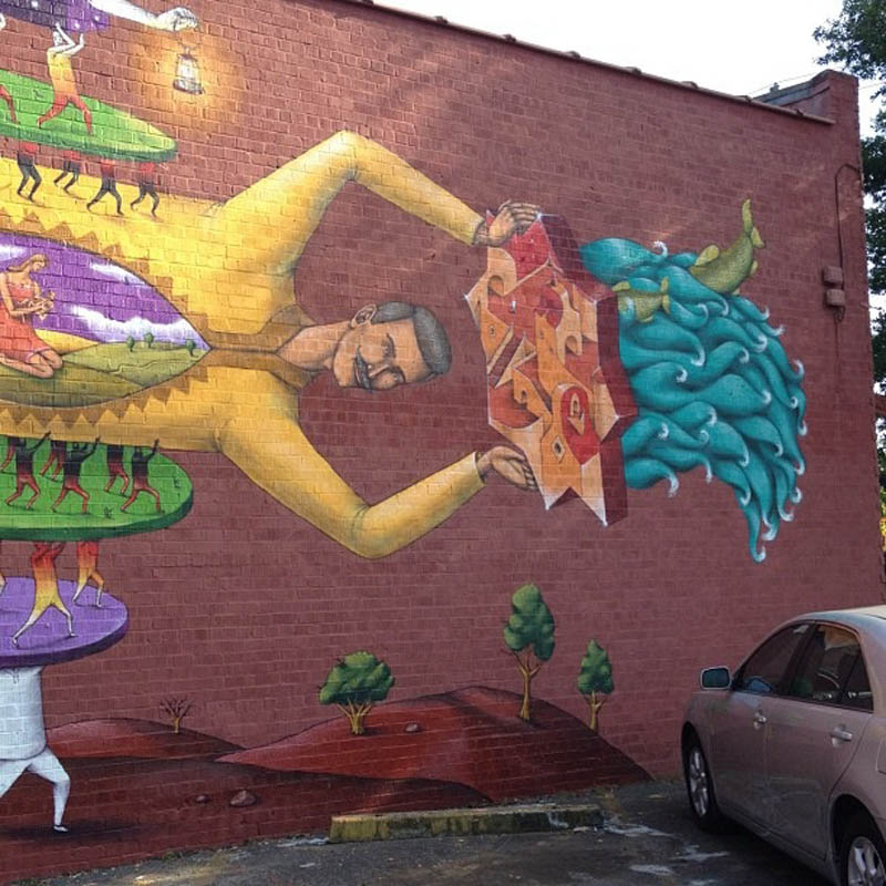 Interesni kazki new mural in atlanta streetartnews for Atlanta mural artist