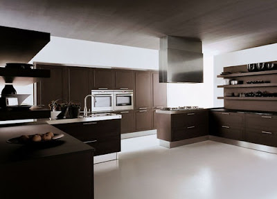 cocina minimalista chocolate