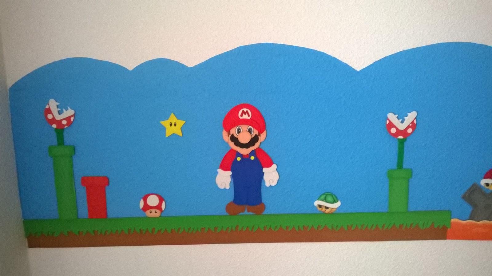 Mi rincón artesano: Cenefa para cuartos infantiles: Mario Bros