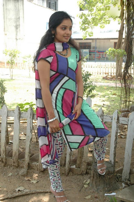 Keerthi Sagakkal in a Multi Color Churidar, Churidar Styles online latest photos