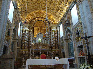 Sitio da Nazare Church altar photo - Leiria