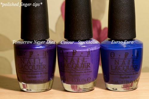 Comparison - Tomorrow Never Dies, Do You Have this Colour in Stock-holm and Eurso Euro by OPI
