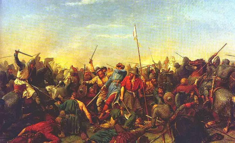 Harald Hardrada dies at the Battle of Stamford Bridge