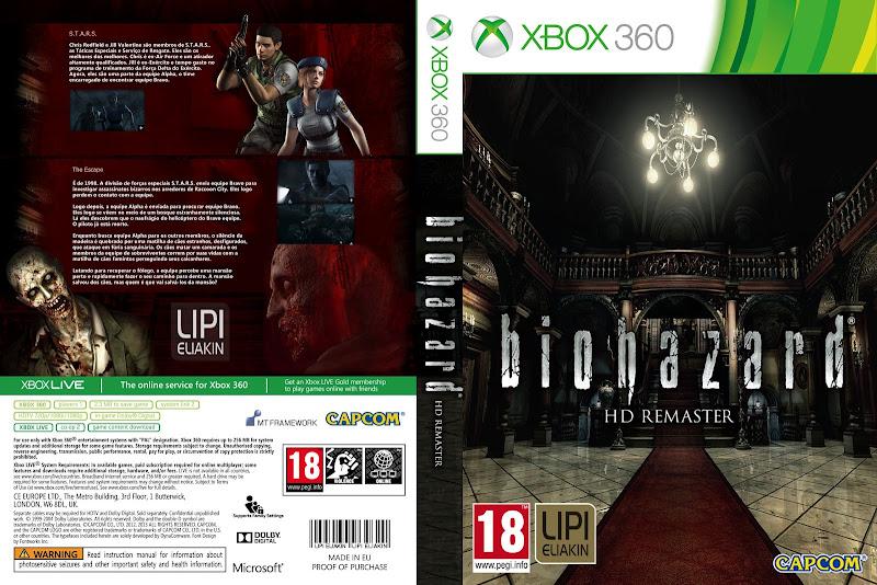 Capa Biohazard HD Remaster Xbox 360 [Exclusiva]