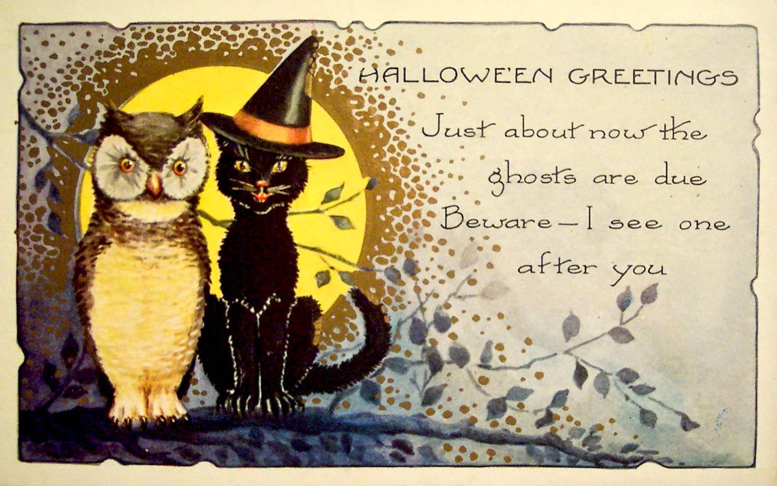 The Gothic Embrace: Vintage Halloween Graphics
