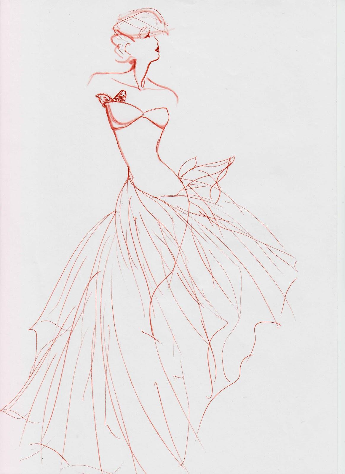 Styliste illustrateur croquis haute couture ii - Dessin de couture ...